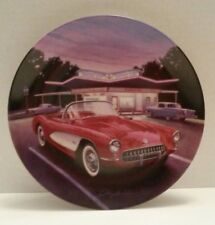George Angelini - 1957 Red Corvette Delphi Collector's Plate Cars of the 50's