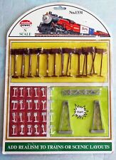 MODEL POWER Railroad N Scale Accessories, Power Poles, Sign New #1331     A10