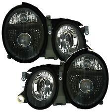 Scheinwerfer Set in Klarglas Schwarz für MERCEDES W208 CLK 2/97- Facelift Optik