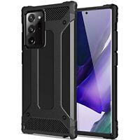 Coque pour Samsung Galaxy Note20 / Ultra 5G Étui Tough Noir + Verre Trempé