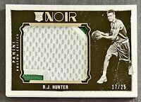 2015-16 Noir R.J. Hunter RC Prime Jumbo Patch 17/25 Boston Celtics Georgia State