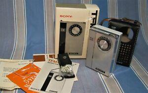 SONY TFM-850W AM-FM WORKING TRANSISTOR RADIO MINT BOXED SET w/ CASE & PAPERS