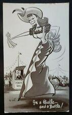 Vintage Comic Postcard~ Hustle & Bustle~ Saloon Girl~ P606