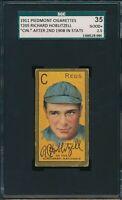 """1911 T205 Richard Hoblitzell """"Cin"""" After 2nd 1908 Stats SGC 35 Good+ 2.5 Not PSA"""