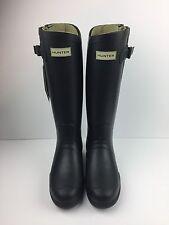 Hunter Rain Boots Field Tall Balmoral Equestrian Neoprene Black Adjustable Sz 7