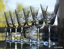 ANTICA 8 bicchieri acqua vino cristallo sfaccettato modello Massenet LORRAINE ?