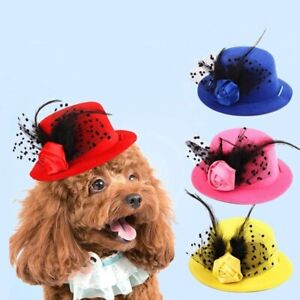 Pet Caps Dog Nobleman Teddy Feather Hat Adornment Fashion Beauty Magnificent