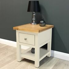 Cotswold Cream Painted Oak Lamp table / Side Table / Solid Wood / Brand New