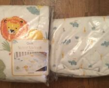 Mothercare Sleepy Savannah Quilt For A Cot Or A Cot Bed & Laundry Toy Bag Bnip
