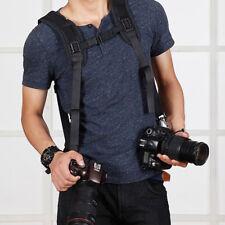 Quick Rapid Camera Double Dual Adjustable Shoulder Sling Belt Neck Strap for SLR