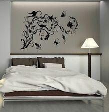 Wall Decal Peacock Butterfly Tree Branch Bird Pattern Vinyl Stickers (ig2760)