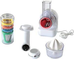 STAR 3-in-1 Kompakt Küchenhelfer Küchenmaschine Saftpresse Gemüsehobel Reibe NEU