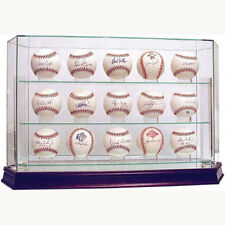 High Quality Glass 15 Ball Baseball Display Case