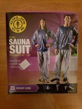 "NEW! NIB Golds Gym XL/XXL Weight Loss Sauna Suit Fits Waists 42""-50"""