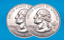 Double Sided Coin (Two Headed Quarter) Magic Trick George Washington Poly bagged