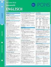 PONS Grammatik auf einen Blick. Englisch von Corinna Löckle-Götz, Sheila MacBride und Sheila McBride (2003, Kunststoff)
