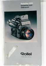 Rollei Rolleiflex 3003 Instruction Book in German - 52 pages