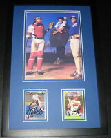 Roberto Alomar & Sandy Alomar Dual Signed Framed Photo Display Orioles Blue Jays