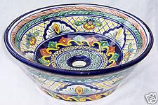 Vessel Talavera Mexican Bathroom Sink Ceramic  # 05