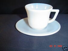 Hazel Atlas White Child Tea Cup and Matching Saucer
