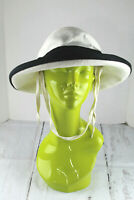 Tilley TH8 Charlotte Hemp Sun Hat Natural Ivory Color Black Trim Size M Unused