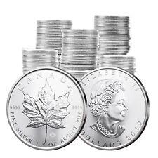 Maple Leaf Silber 1 oz Investmentpaket: 100 Stück Kanada 2019 Silbermünze 1 Unze