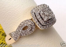Yellow Gold Double Oval Halo Vintage Antique Pave Style Diamond Engagement Ring
