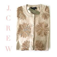 J CREW Embellished Jackie Cardigan SMALL Heather Sand Brown G0582 NEW SOLD OUT*