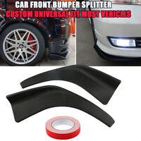 Paar Auto SUV Universal Vorne Stoßstange Lippe Spoiler Splitter Diffusor Canard