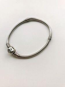 Genuine Sterling Silver 925 Pandora Charm Bracelet