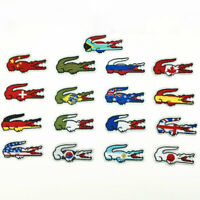 10Pcs National Flags Alligator Embroidered Sew Iron On Patches Fabric Applique