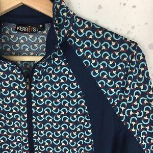 Kerrits Women's Size M Cooltek Short Sleeve Print Equestrian Riding Shirt Blue
