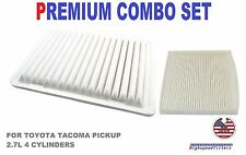 COMBO SET AIR FILTER & CABIN AIR FILTER for 2005 - 2017 TOYOTA TACOMA 2.7L