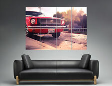 Ford Mustang 1969  Warm Classic Red CarWall Art Poster Grand format A0