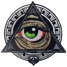 Embroidered Patches Iron Sew On transfers badges applique Rock Punk Blooding Eye