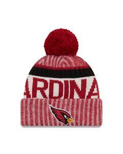 Arizona Cardinals New Era Revers Sport Knit Sideline Knit Hat- Red/Black