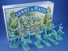 WWI Toy Soldiers French Infantry Figures 20 blue Armies Plastic 1/32 MIB