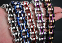 New Colorful Mens Cool Stainless Steel Chain Link Bicycle Biker Bracelets