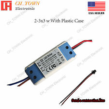 Constant Current LED Driver 10W 2-3X3W DC 6-10V 900mA Lamp Bulb Power Supply USA
