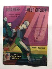 Delaware-West Chester College Football Program September 12,1970