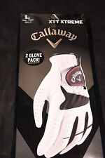 Callaway XTT Xtreme Golf Glove 2-Pack White/Black  size large