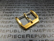 18mm Stainless Tang Watch Buckle Gold Plate for IWC Portugues Pilot Strap Band