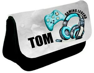 Personalised Pencil Case Back to School Bag PS5 PS4 XBox Gaming Gift Boys Gift