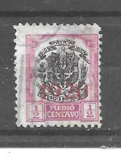 Dominican Republic Stamp- Scott # 220/A25-1/2c-Canc/H-1920-Overprinted-NG