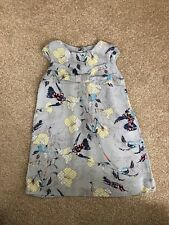 Stunning Floral Girls Dress By Cacharel Age 2-3 Years Duck Egg Blue