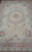 Magnificent Jeanine, Mushroom, Handmade Cross-Stitched Wool Needle Point rug 6x9