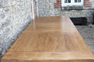 Grand Plank Top Solid Oak French Farmhouse Refectory Table