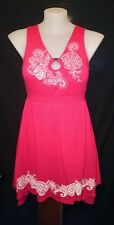 RXB Ladies Dress in Red with White Detail Size L