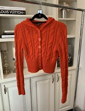 Bebe Red Crop Sweater Size M