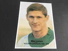 MAX LORENZ SIGNED PHOTO 13x17 in-persona DFB